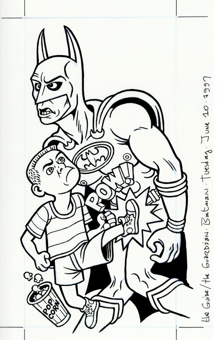 Batman illo GUARDIAN, 6/10/97,  - dannyhellman   ello