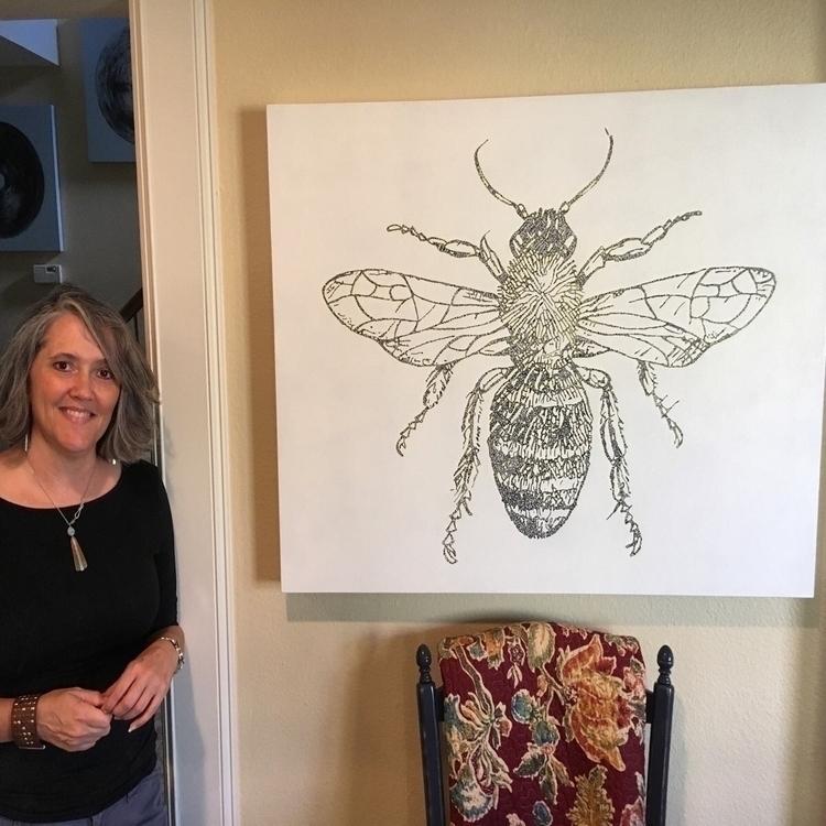 "Happy client piece, ""Bee Flower - -marlo- | ello"