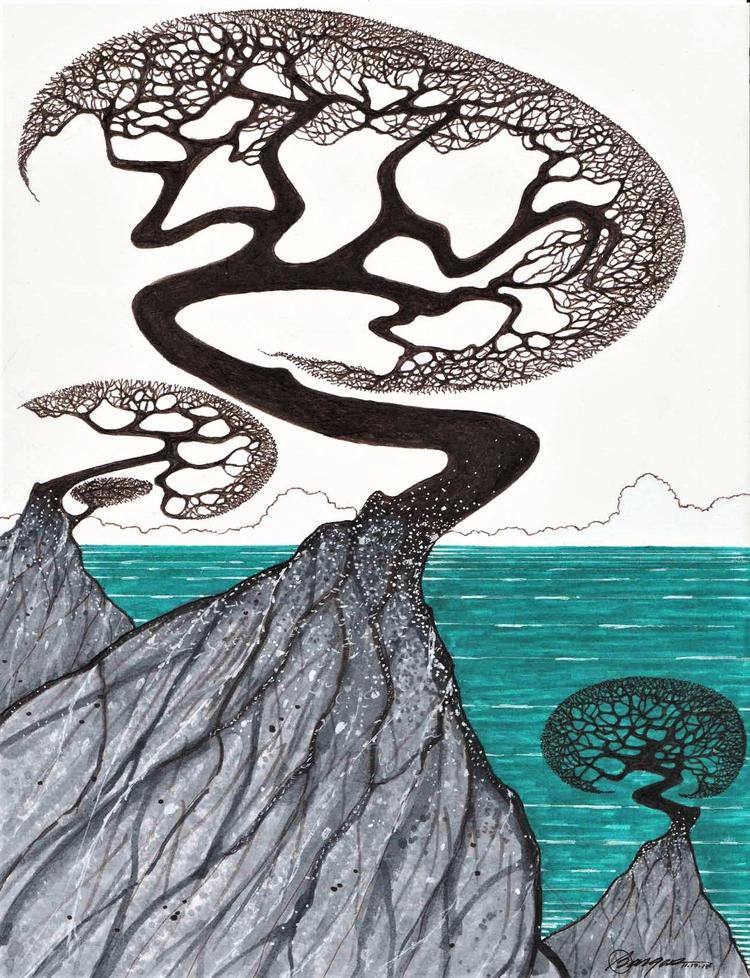 111717 8.5 x11'' ink - pen, trees - jymmm3 | ello