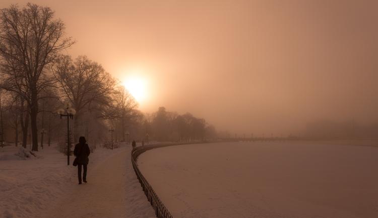 winter, snow, sunset, sunrise - niklasborsting | ello