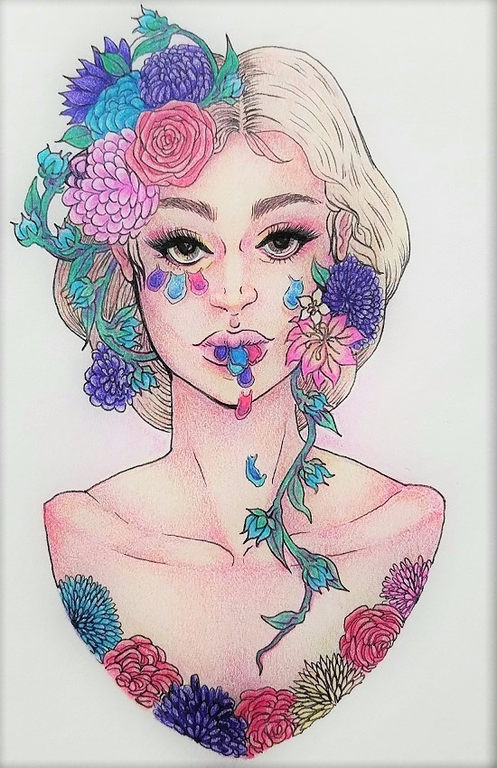 illustration, flora, flowers - ehnason | ello