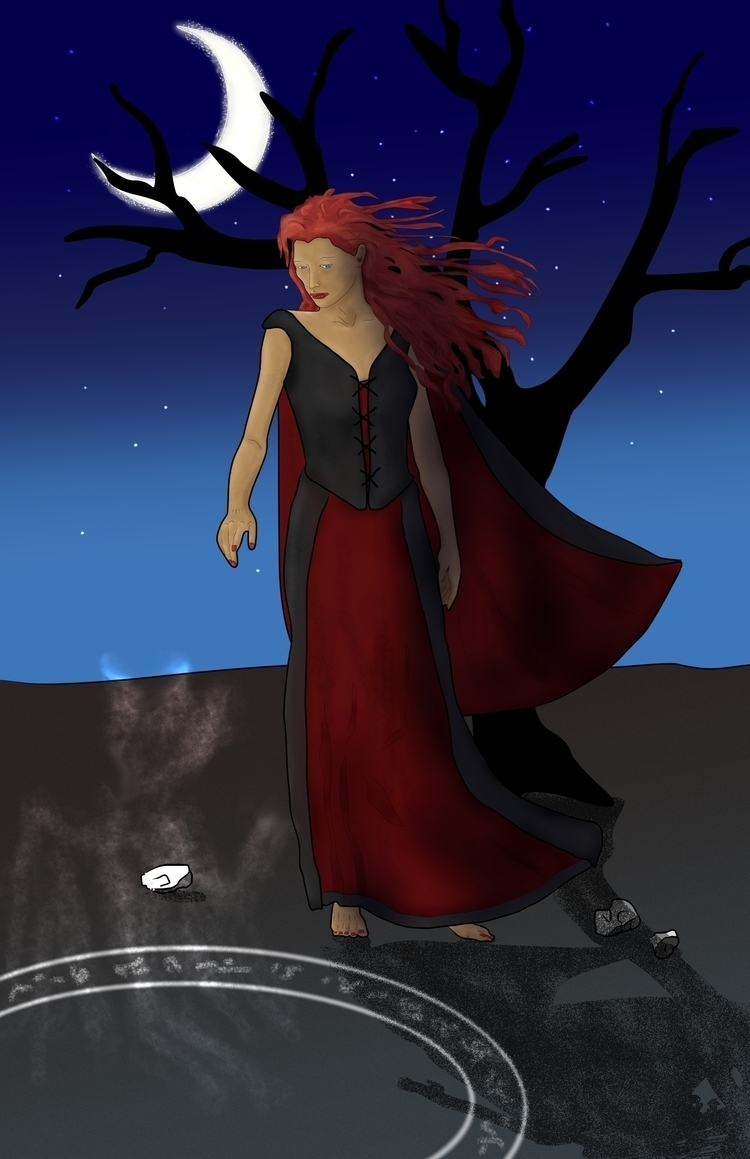 Summoning - illustration, painting - rachelj-1394 | ello