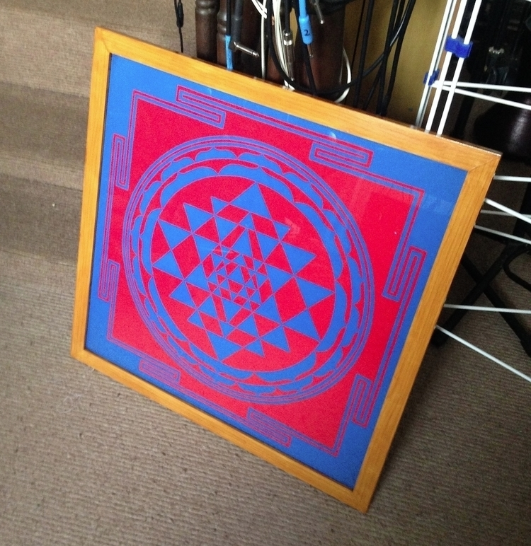 SRI YANTRA - Colour, Hand Drawn - -shift- | ello