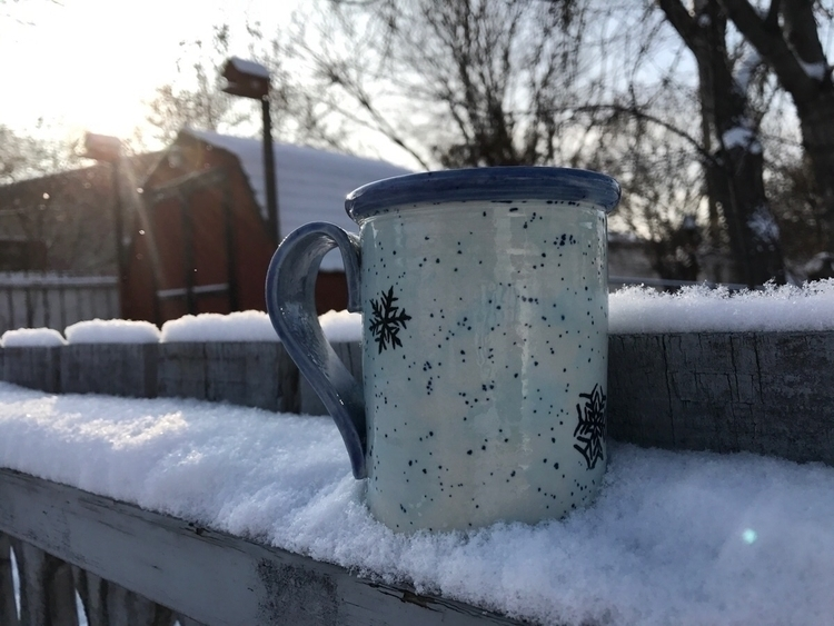 LOVE Snowflake mugs!! Order tod - pearsonspottery | ello
