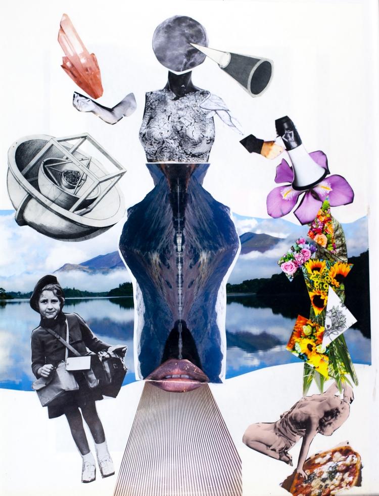Mother Moon - collage, photography - coffeebean1 | ello