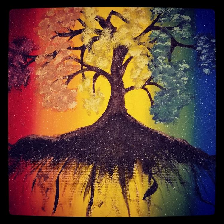 Color Spectrum Tree Life Acryli - defineddesirecollection | ello