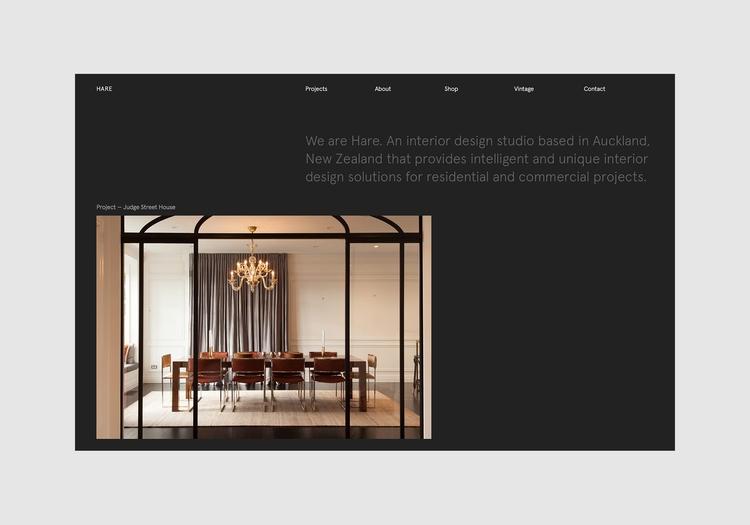 Website Hare Interiors designed - northeastco | ello