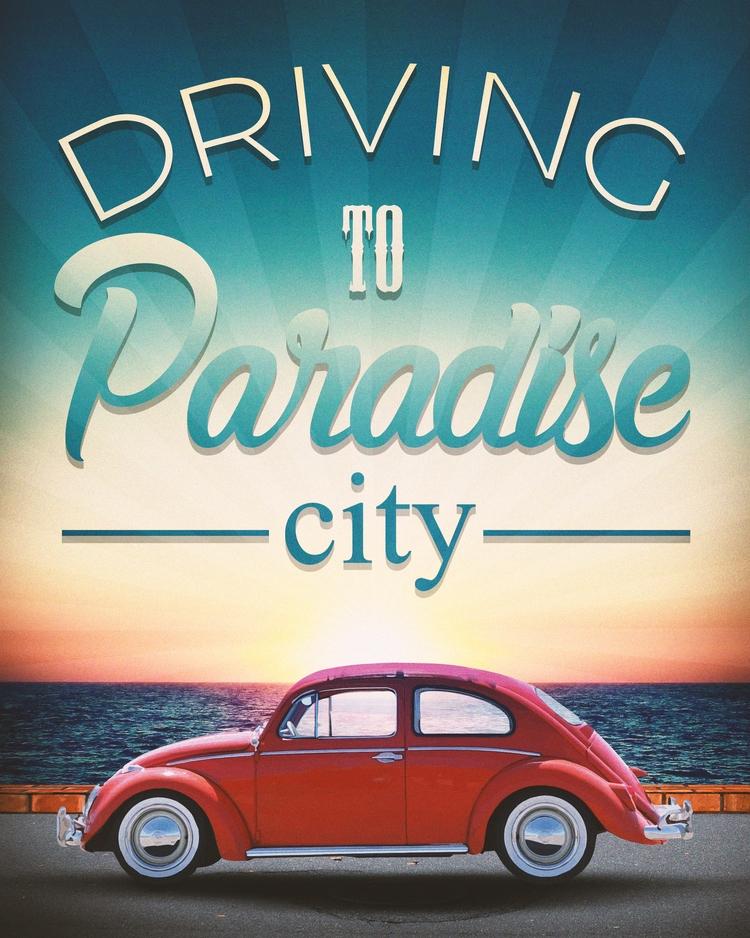 Driving paradise - driving, fusca - c23arts | ello