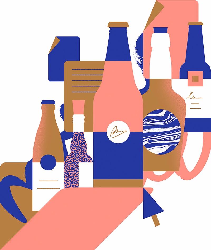 Beer folder - illustration, artwork - alconic   ello