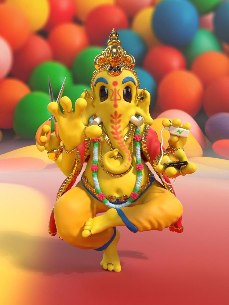 Ganesh Obstacle Remover Sculpte - joy | ello