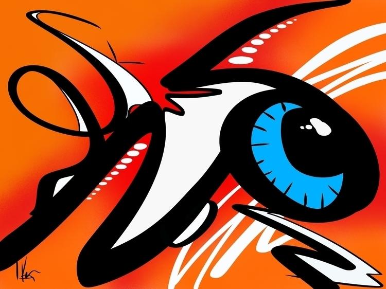 Title: Eye Fly Blue Digital art - nikonkenny | ello