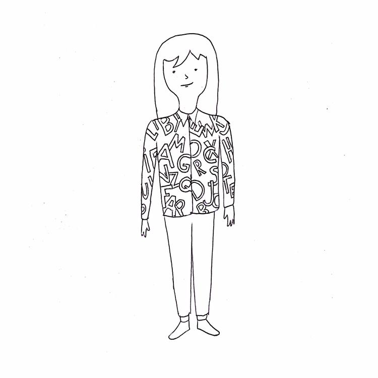 Girl letter shirt. Pen paper. 2 - dipascuale-paz | ello