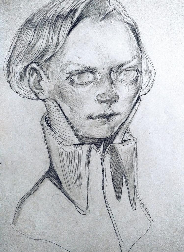 drawing, art, girl, sketchbook - hanukafast | ello