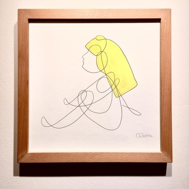 ONELINE Blondgirl - 2, oneline, minimalism - clarakopf | ello