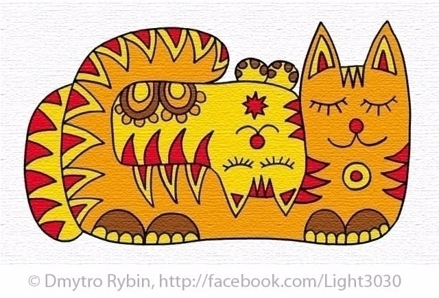 cat - love, sleep, dream, art, picture - dmytroua | ello