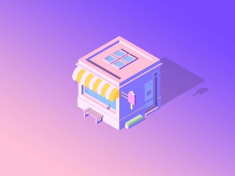 cutie ice cream shop ! Yummy - icecream - remi_preher | ello