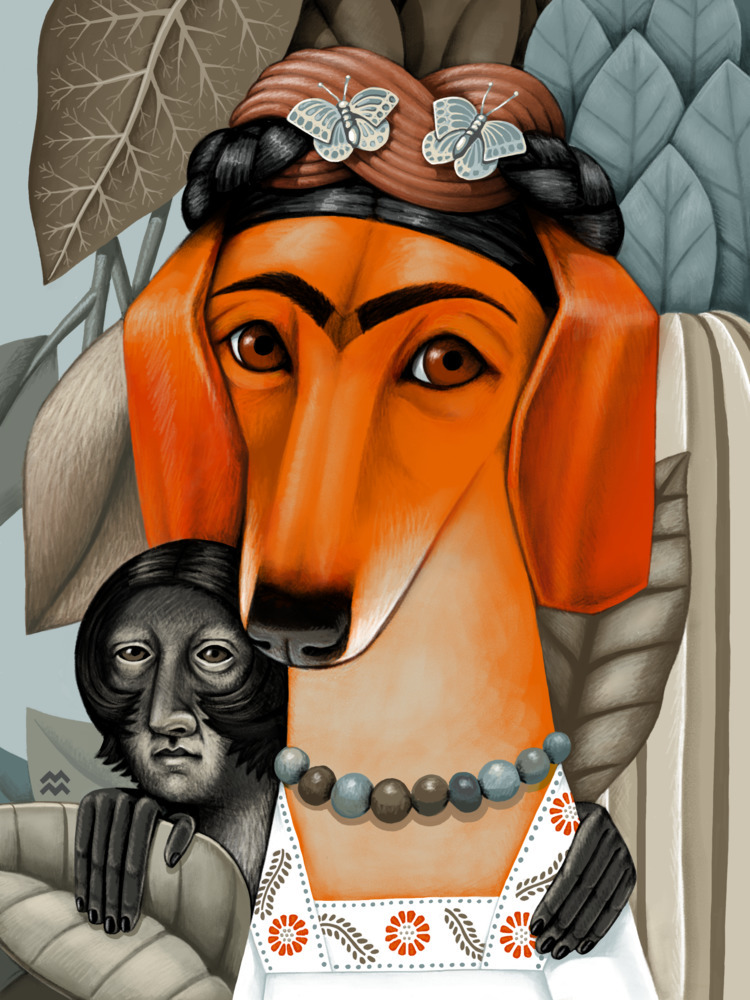 Frida Monkey: homage Fridas dog - miriamdraws | ello
