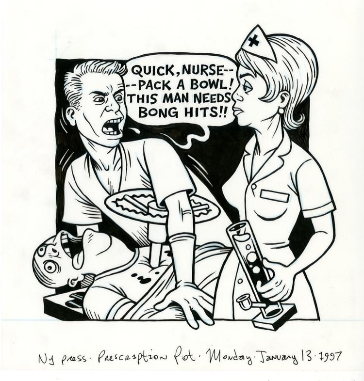 Bong Hits, illo NYPress, 1/13/9 - dannyhellman   ello