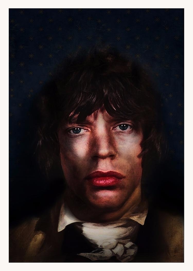 canonisation Mick Jagger - digitalcollage#mickjagger#art#renaissancerock - astroturf | ello
