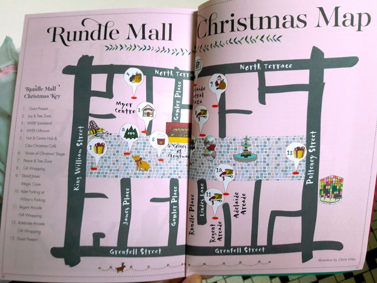 illustrated map Rundle Mall Chr - j0eyg1rl | ello