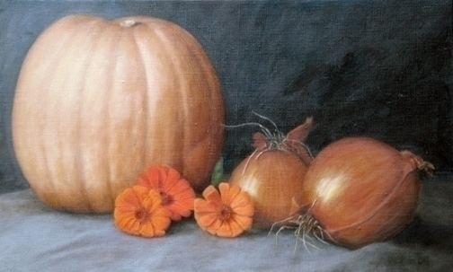 Harvest II 14 23 Oil Linen - artist - ghostwomanstudios   ello