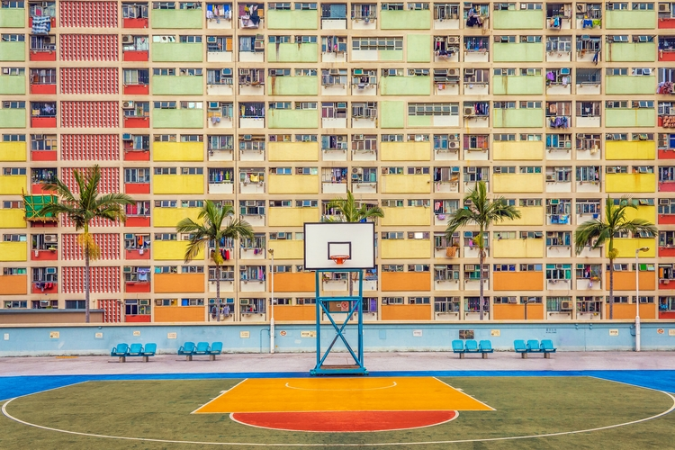 Hong Kong Court- colorful apart - davecurry8 | ello