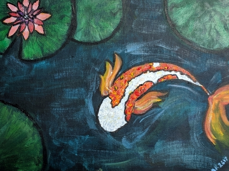 koi painting Art Sherpa. 9x12 c - morgankay-art | ello