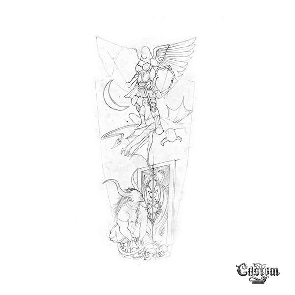 Check CTD artist turned demon a - customtattoodesign   ello