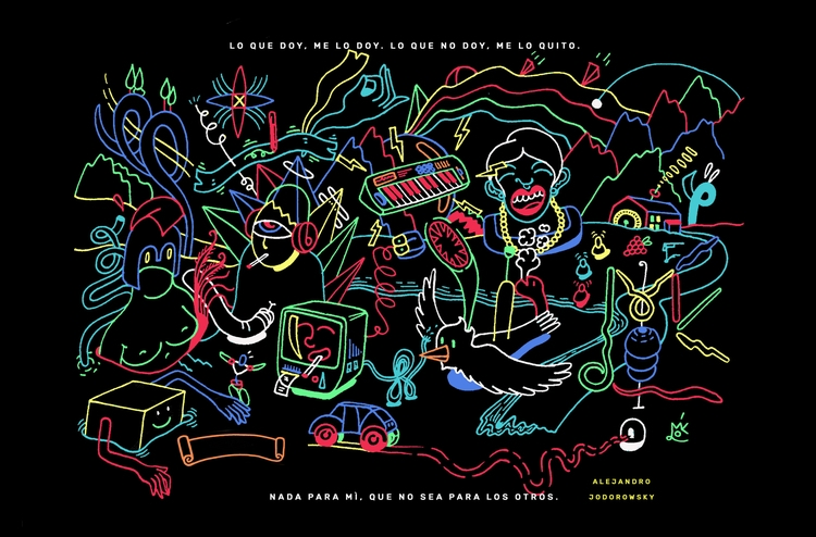 Free wallpaper friends Ello!  - illustration - mico_l | ello
