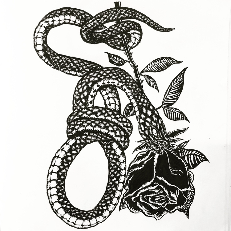 SNAKE NOOSE ROSE//Black Pentell - __mundane_death   ello