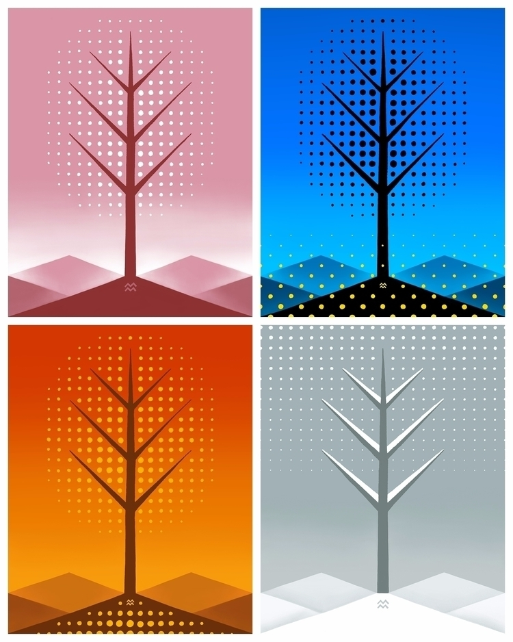 seasons halftone dots started m - miriamdraws | ello