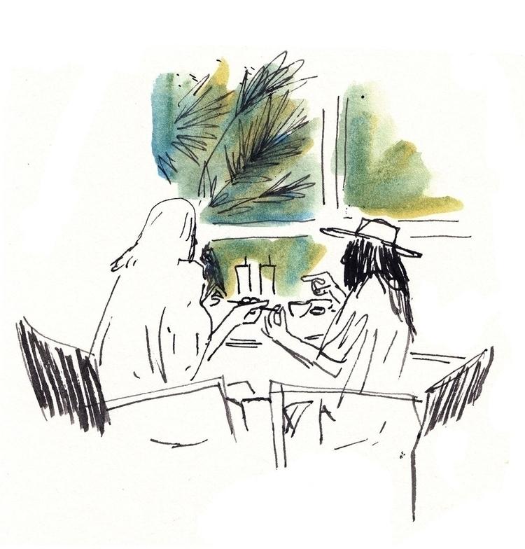 Tokyo café, girlfriends lunch.  - luismendo | ello