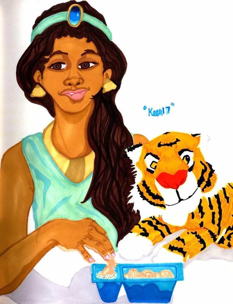Princess Jasmine (2017 - inktober - ccmicheau | ello
