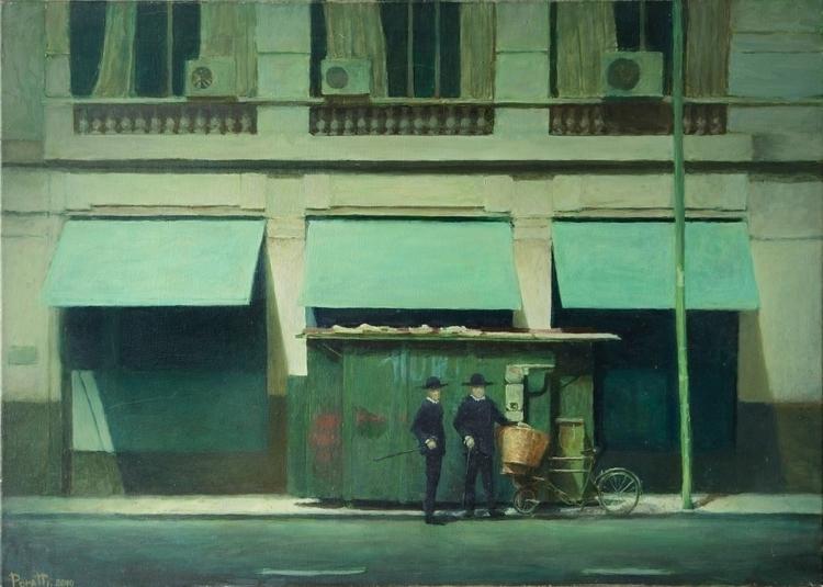 La visita Oil canvas. 70x50 cm - agustinp | ello