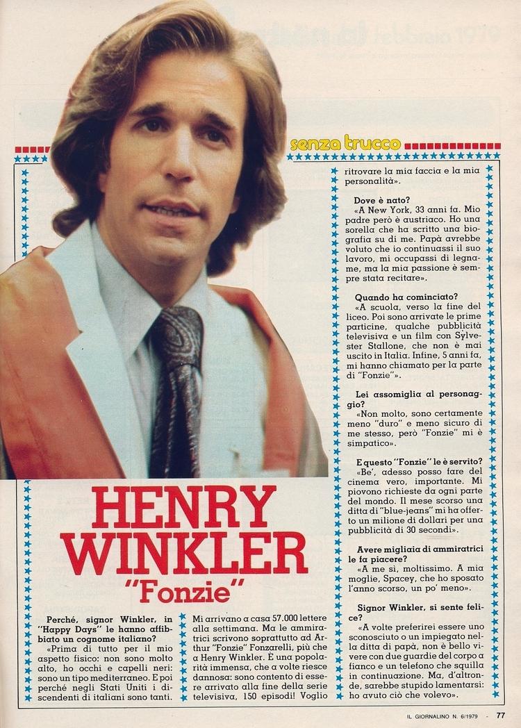 Henry Winkler Tratto dal Giorna - corrierino | ello