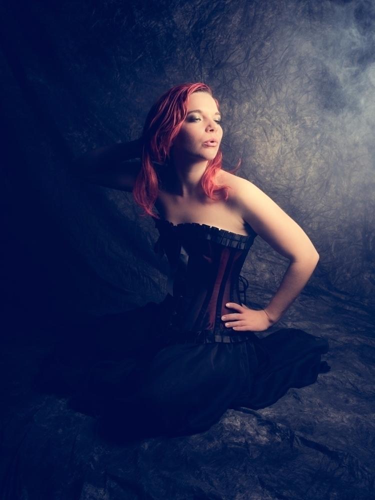 redhead, redandblack, corset - akinokitsune | ello