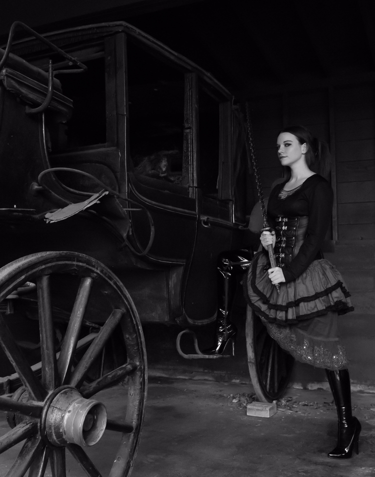 blackandwhite, steampunk, victorian - akinokitsune | ello