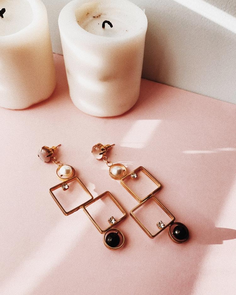 designer - design, earrings, gold - monad_design | ello