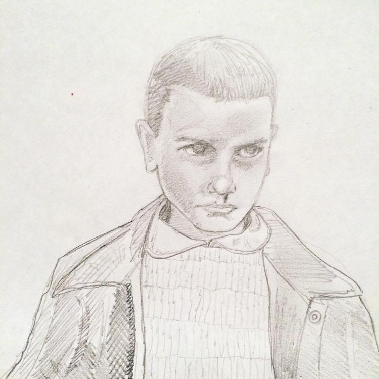 Eleven, strangerthings, pencilstudy - marksolario | ello