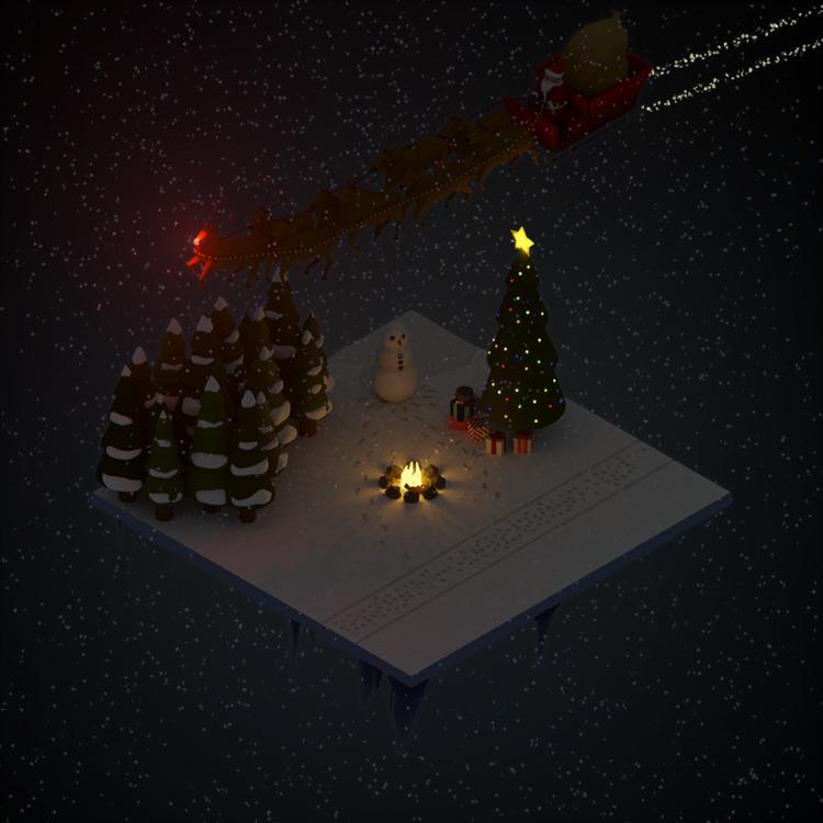 scene. Created - Isometric, Christmas - mrpopcornbag | ello