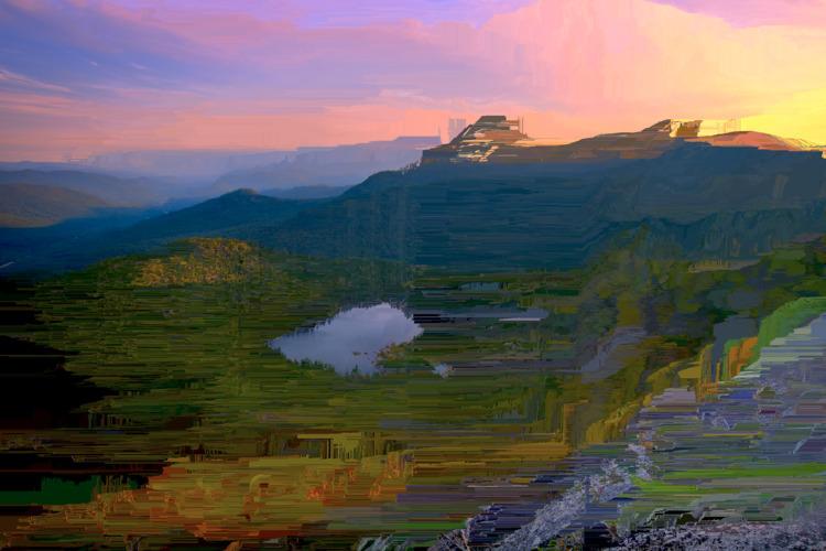 mountain sunset - nature, mountains - jazer | ello