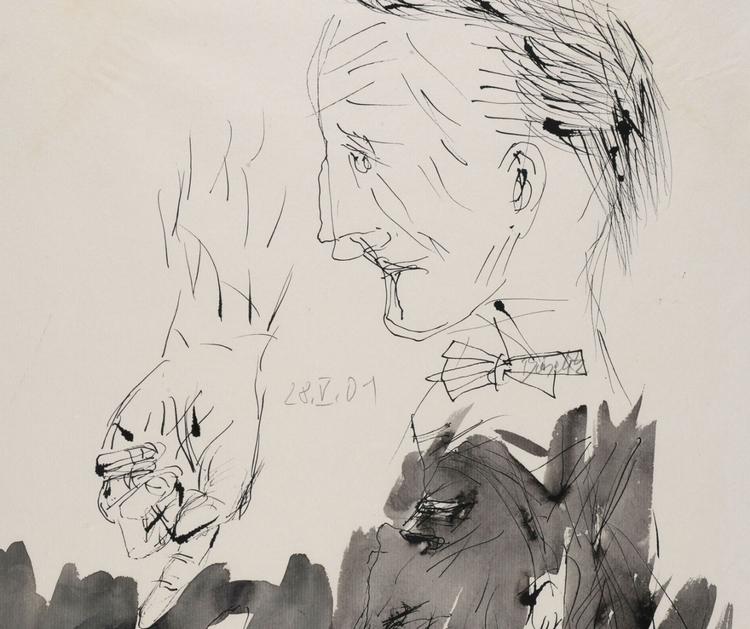 Georg Baselitz (German, 1938),  - ellodadaism | ello