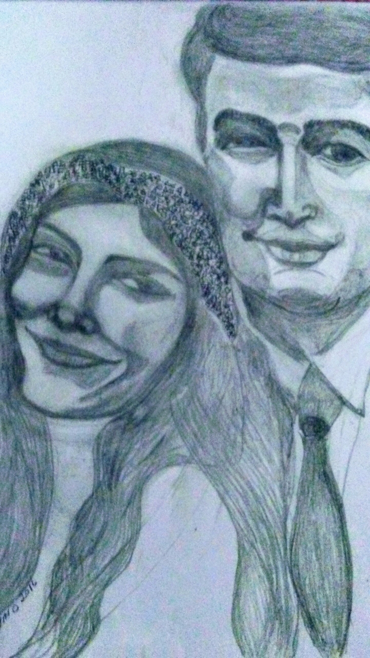 Wedded Pencil Drawing - kathryn_savino | ello