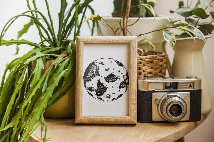Dotwork Moon Print Keyley Graha - keyleygrahamdesigns | ello