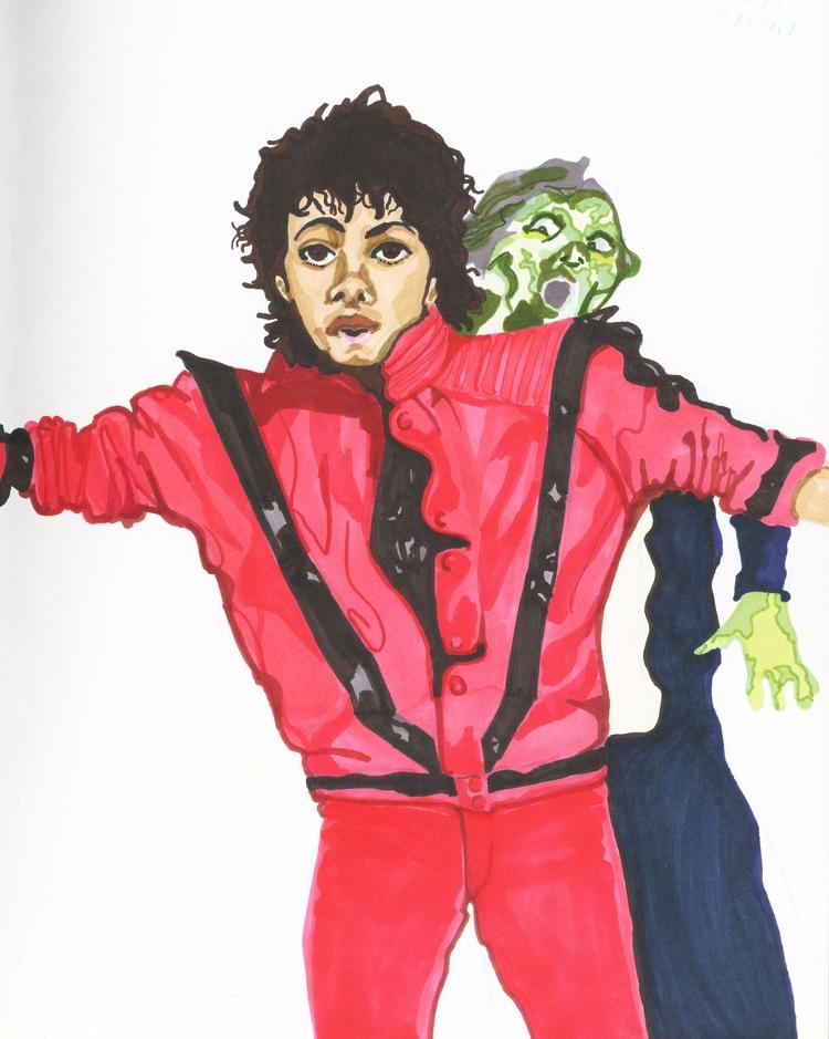 Michael Jackson (2017) Inktober - ccmicheau | ello
