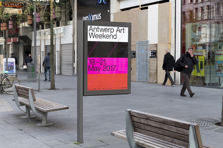 Visual identity Antwerp Art Wee - northeastco | ello