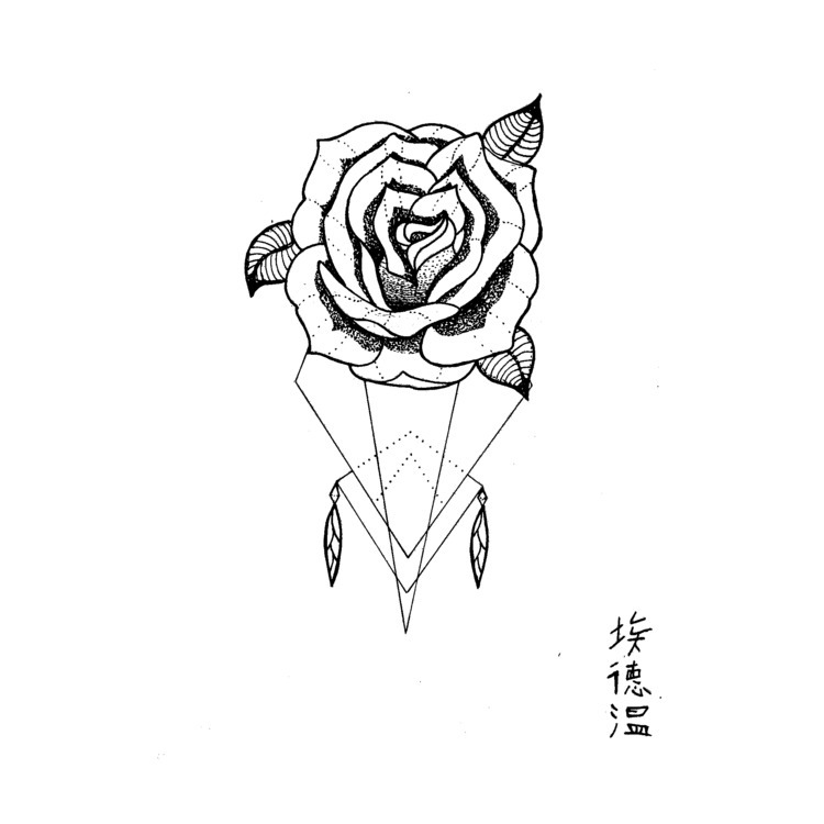 Tattooidea rose (67) find - draweveryday - edwln | ello