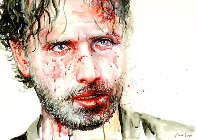 Walking Dead - óleo sobre tela  - fabianomillani | ello