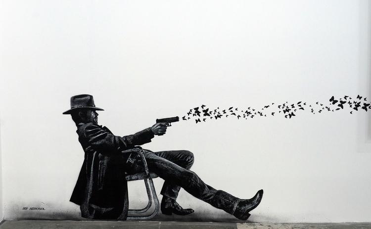 Quelques œuvres de street-art L - gclavet   ello