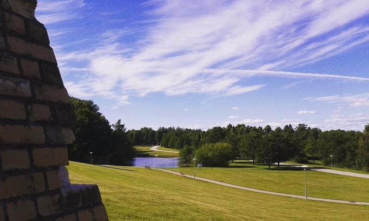 Vy över stora dammen från Ljuse - skogskyrkogardar | ello
